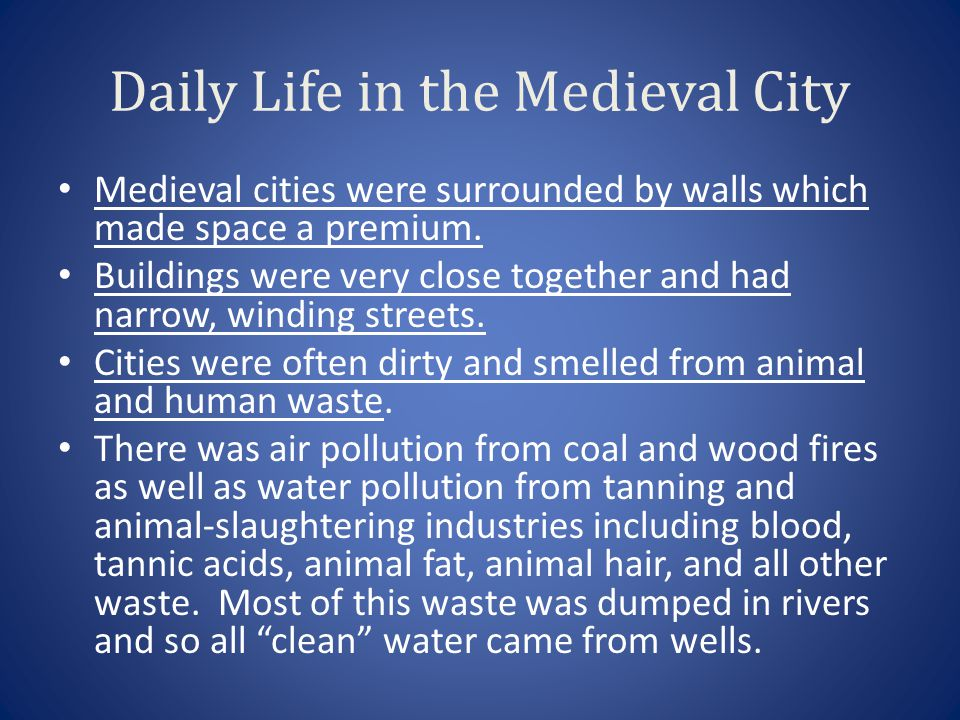 Daily Life in the Medieval City