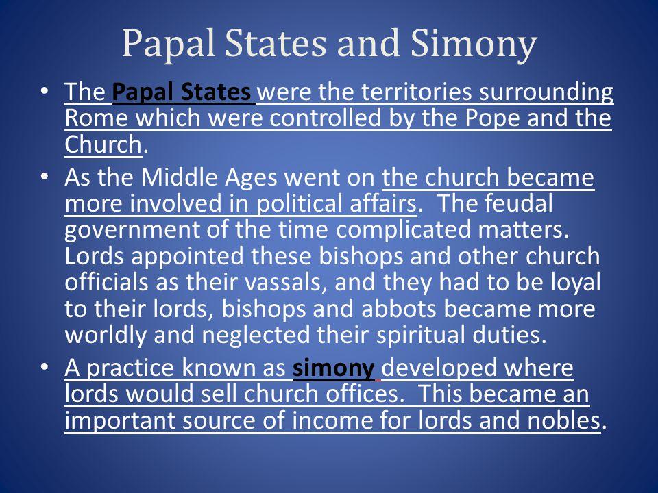 Papal States and Simony