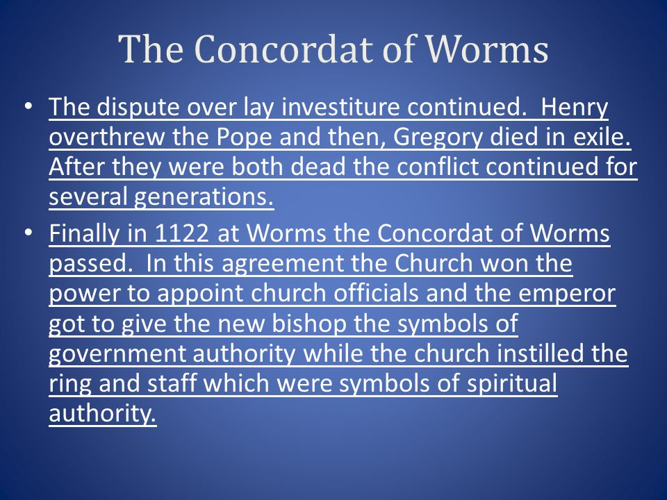 The Concordat of Worms