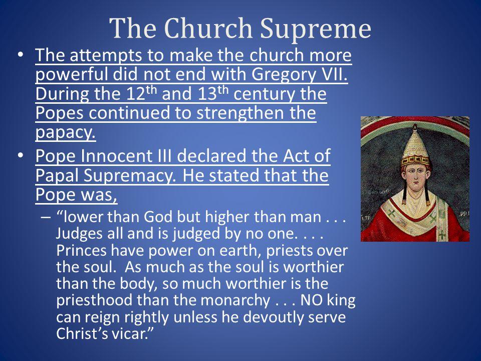 The Church Supreme