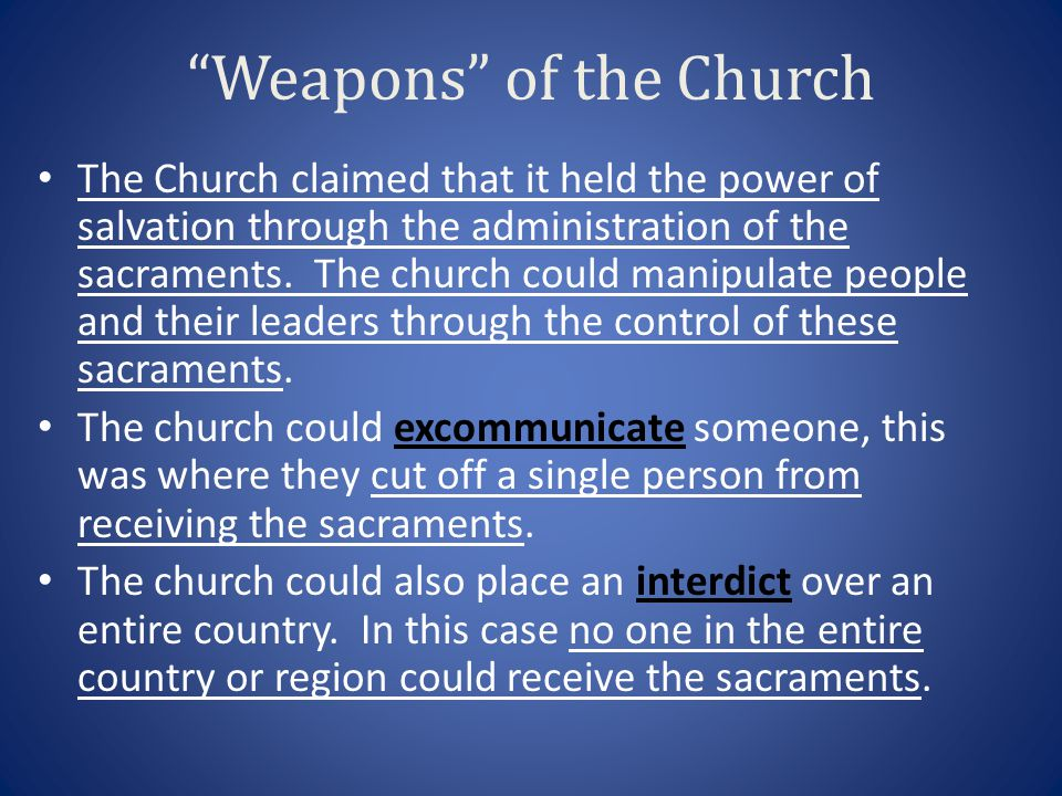 Weapons of the Church