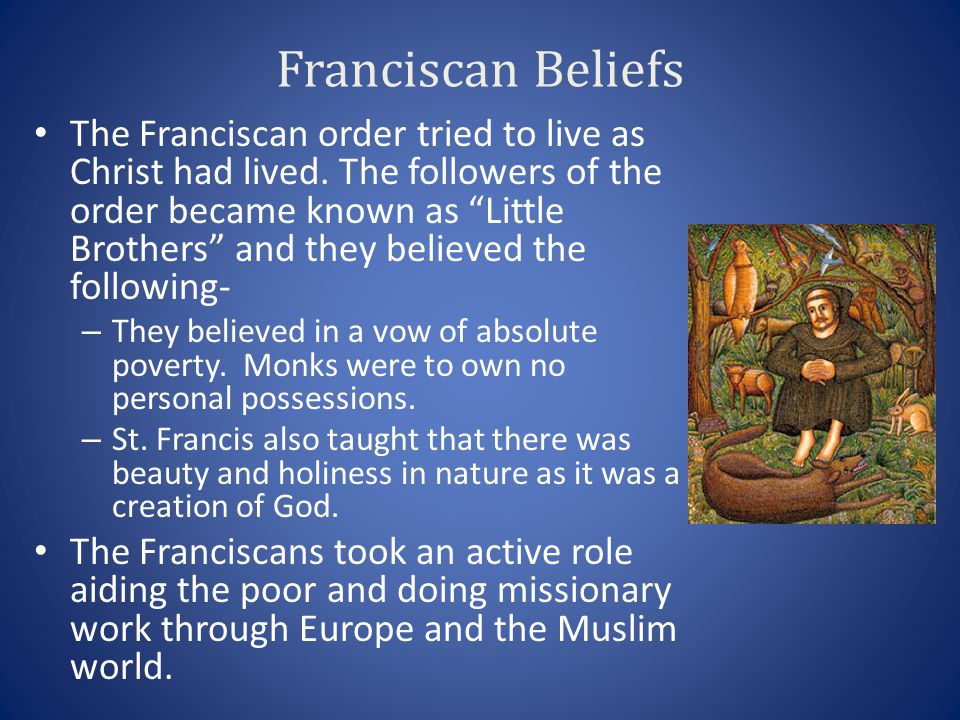 Franciscan Beliefs