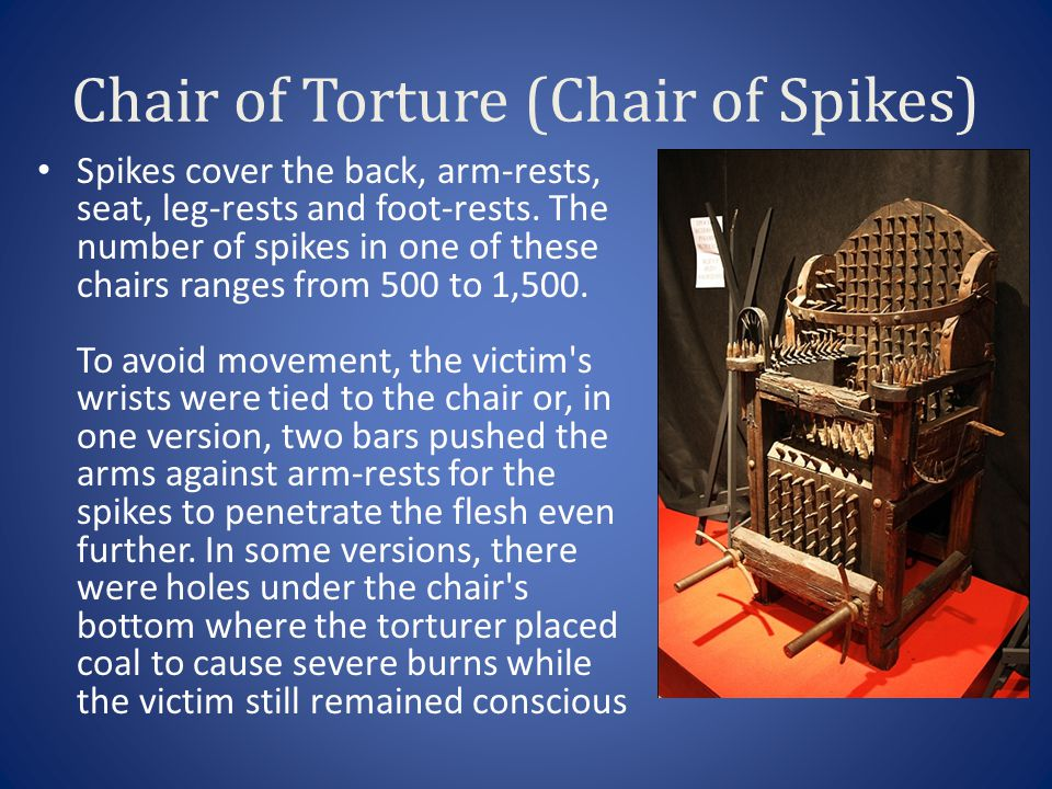 Chair of Torture (Chair of Spikes)