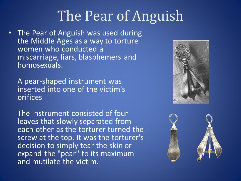 The Pear of Anguish