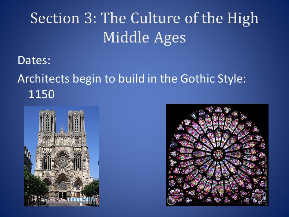 Section 3: The Culture of the High Middle Ages
