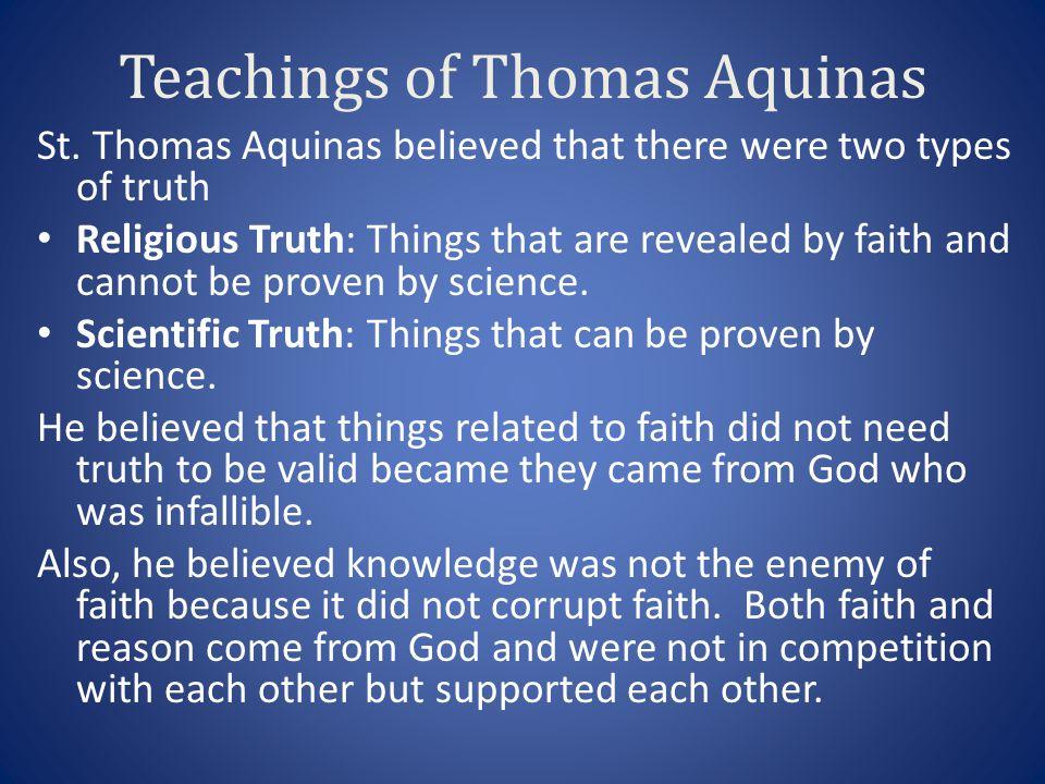 Teachings of Thomas Aquinas