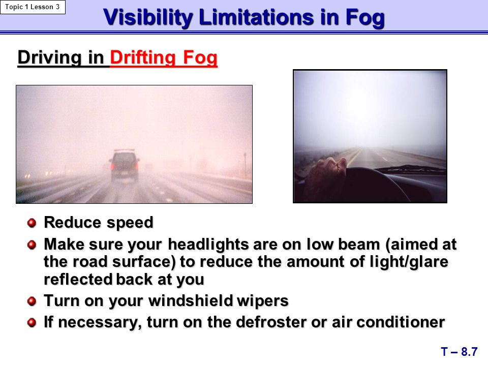 Visibility Limitations in Fog