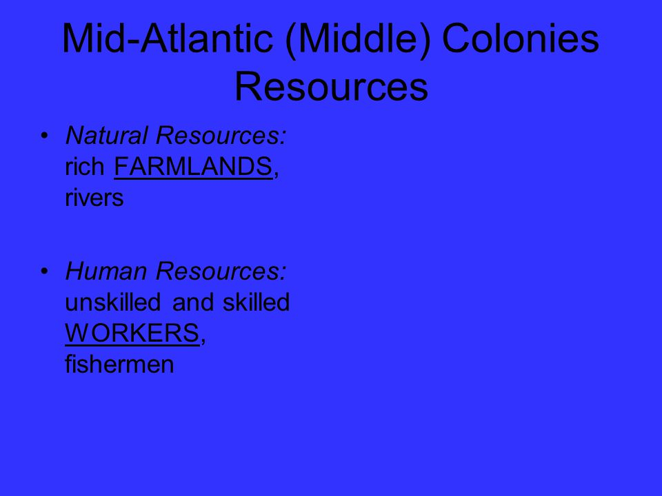 Mid-Atlantic (Middle) Colonies Resources