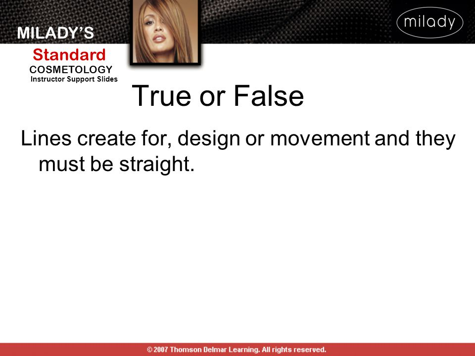 True or False Lines create for, design or movement and they must be straight.