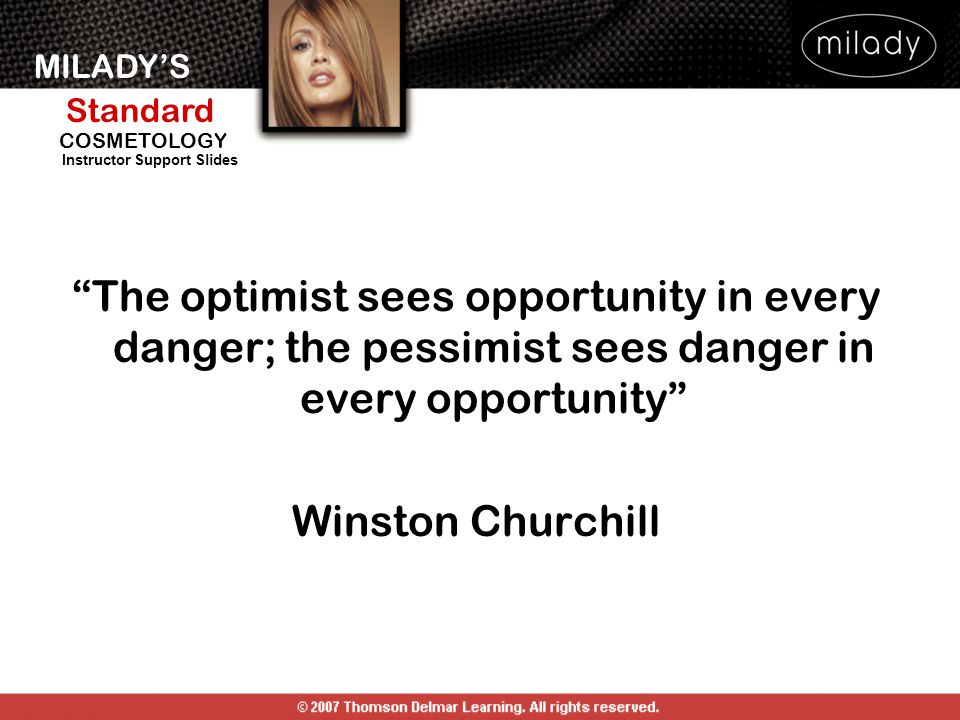 The optimist sees opportunity in every danger; the pessimist sees danger in every opportunity Winston Churchill