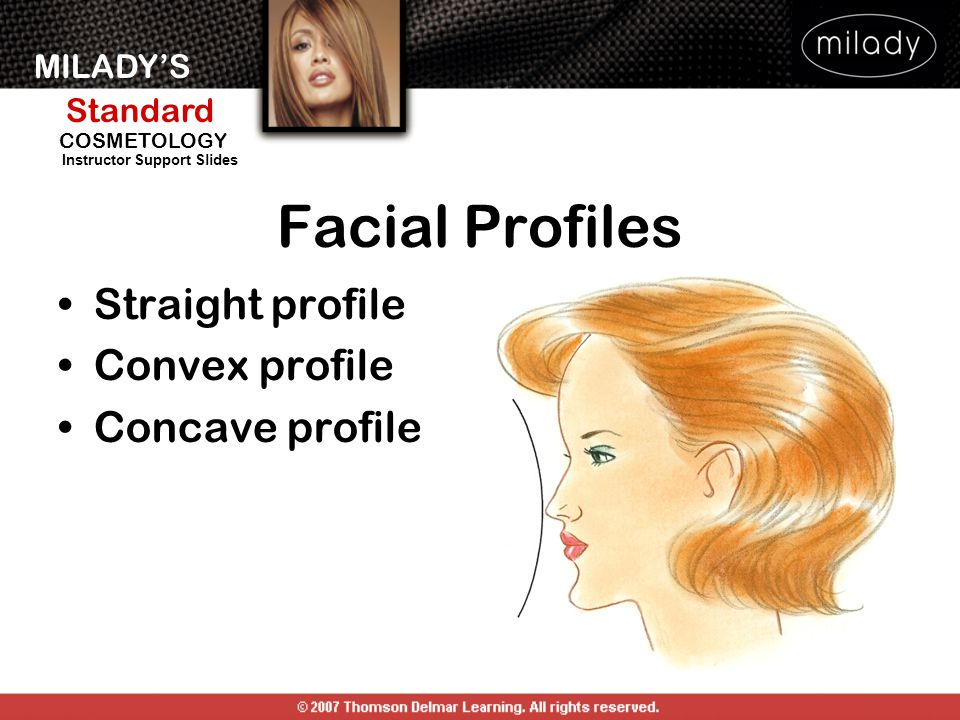 Facial Profiles Straight profile Convex profile Concave profile