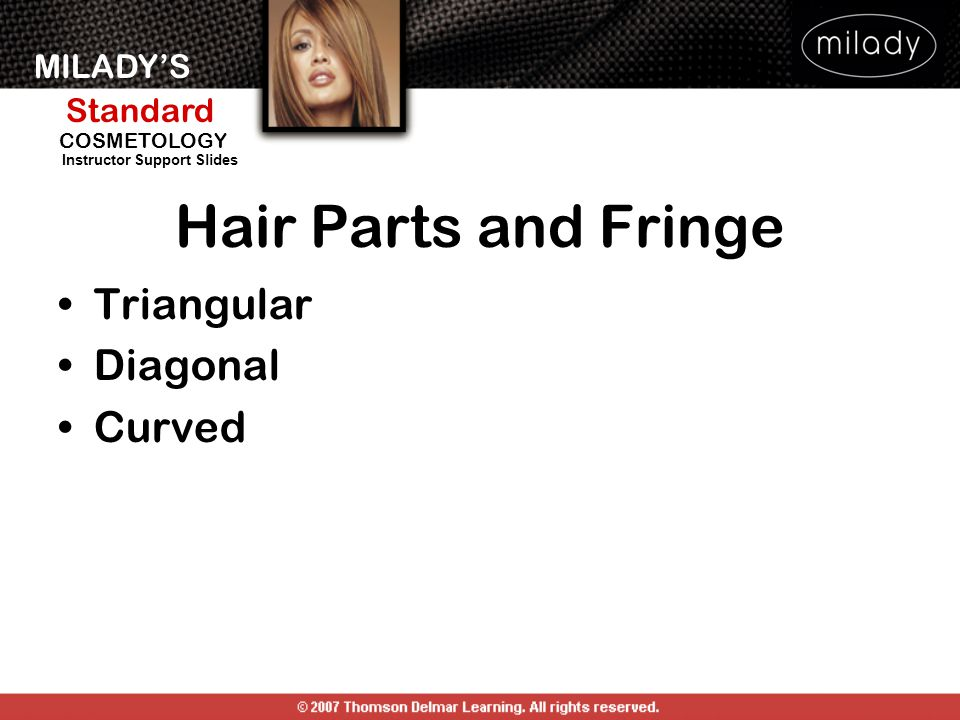 Hair Parts and Fringe Triangular Diagonal Curved