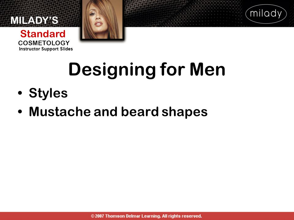Designing for Men Styles Mustache and beard shapes DESIGNING FOR MEN