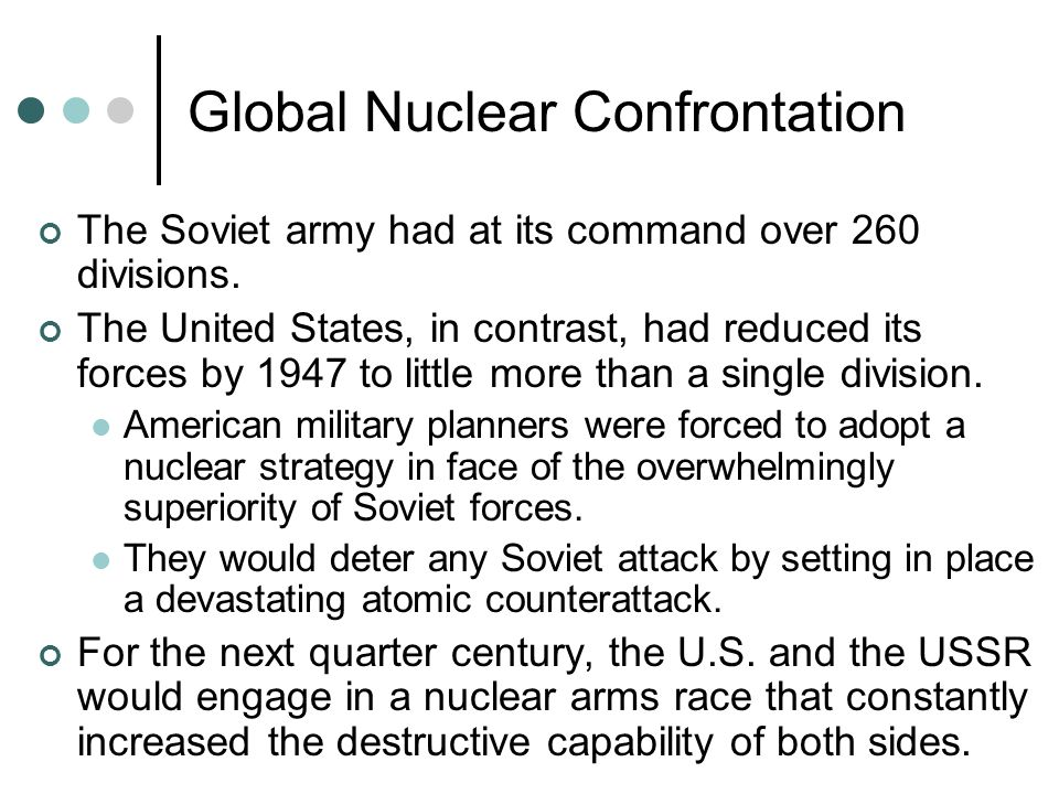 Global Nuclear Confrontation