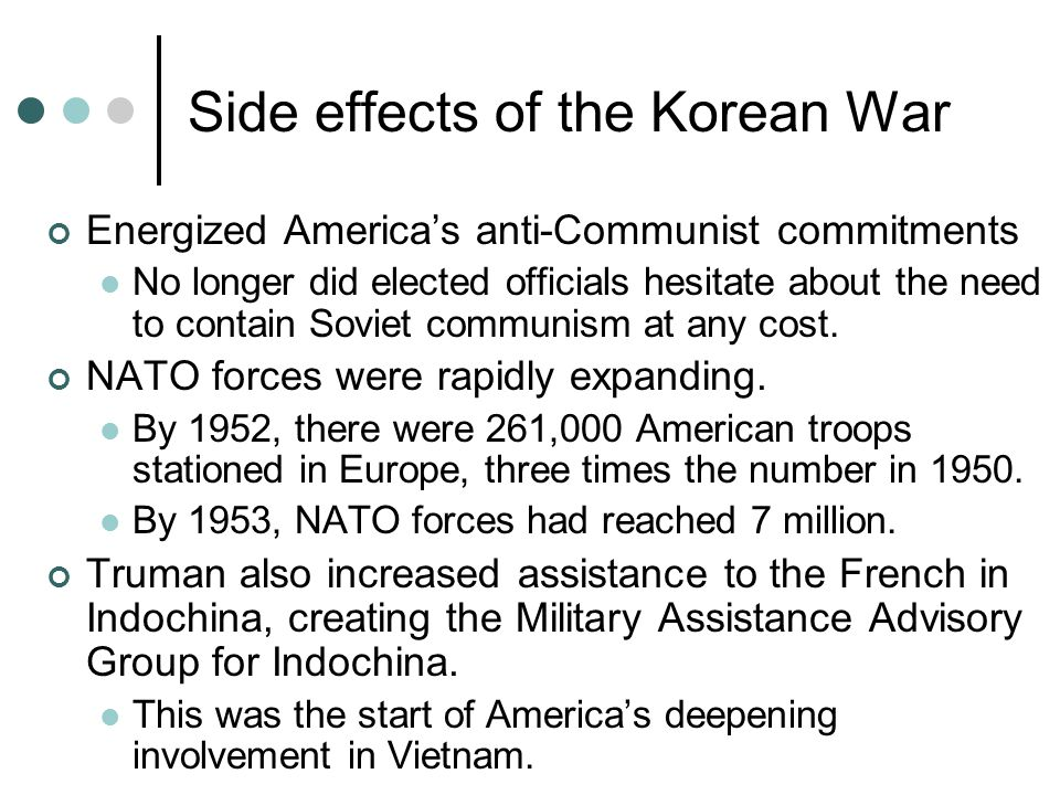 Side effects of the Korean War