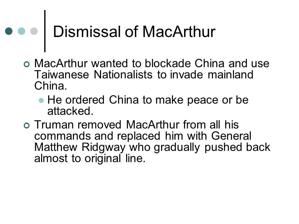 Dismissal of MacArthur