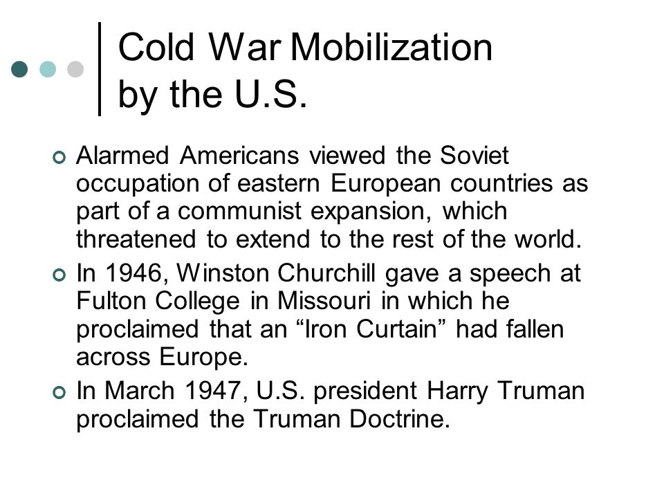 Cold War Mobilization by the U.S.