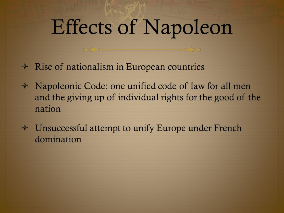 Effects of Napoleon Rise of nationalism in European countries