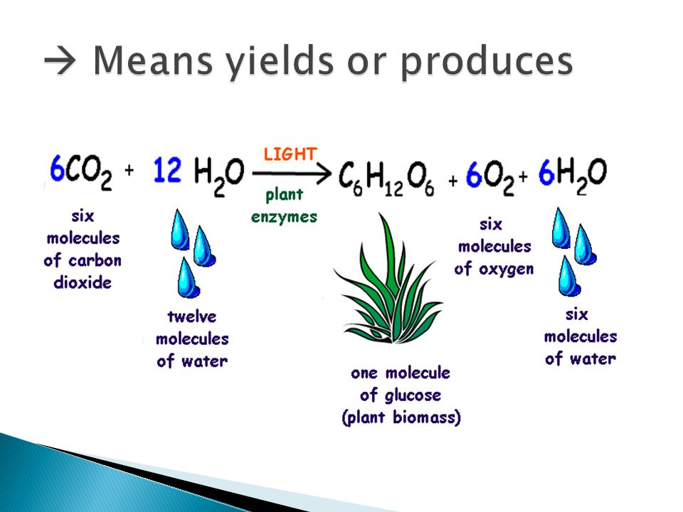  Means yields or produces