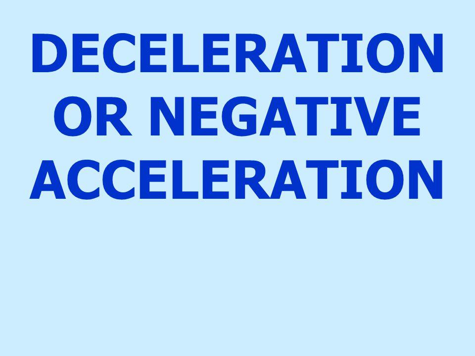 DECELERATION OR NEGATIVE ACCELERATION