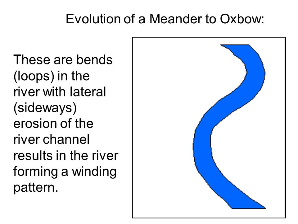 Evolution of a Meander to Oxbow: