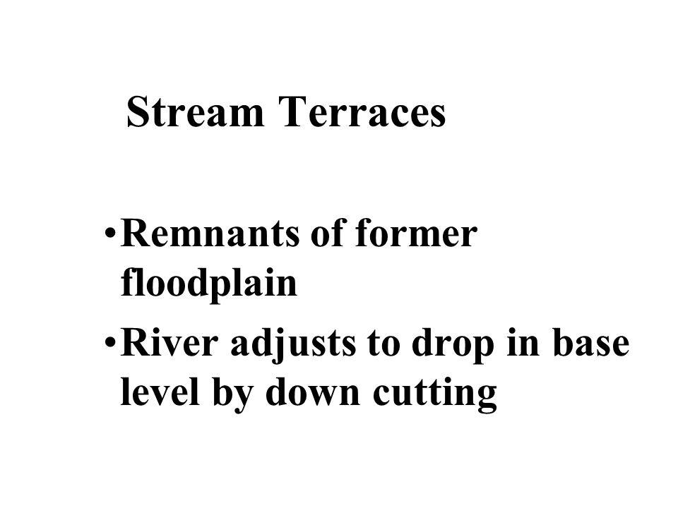 Stream Terraces Remnants of former floodplain