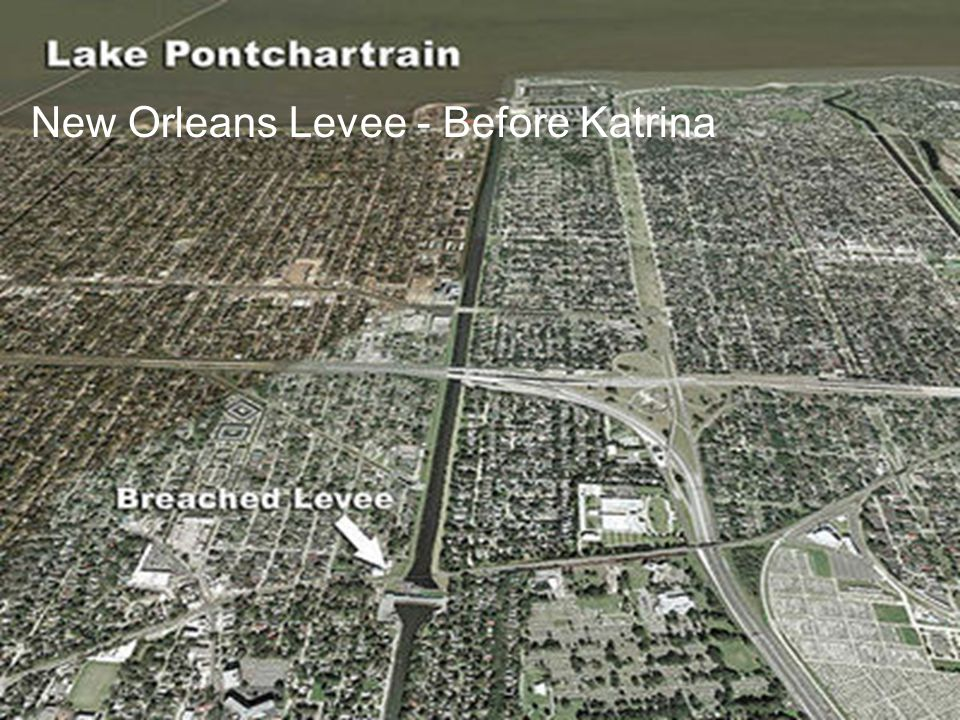 New Orleans Levee - Before Katrina