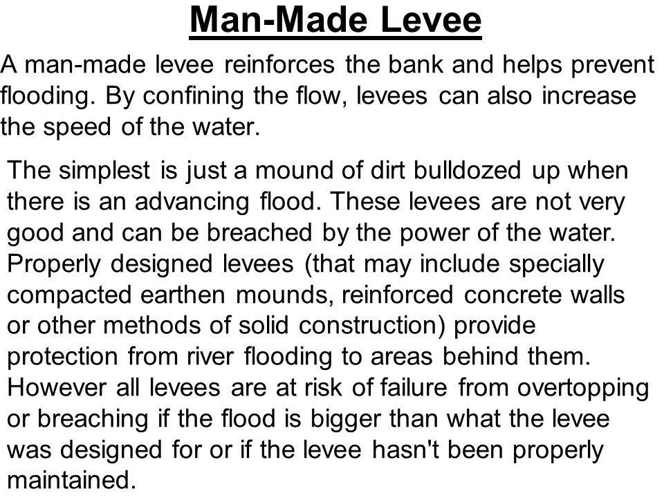 Man-Made Levee