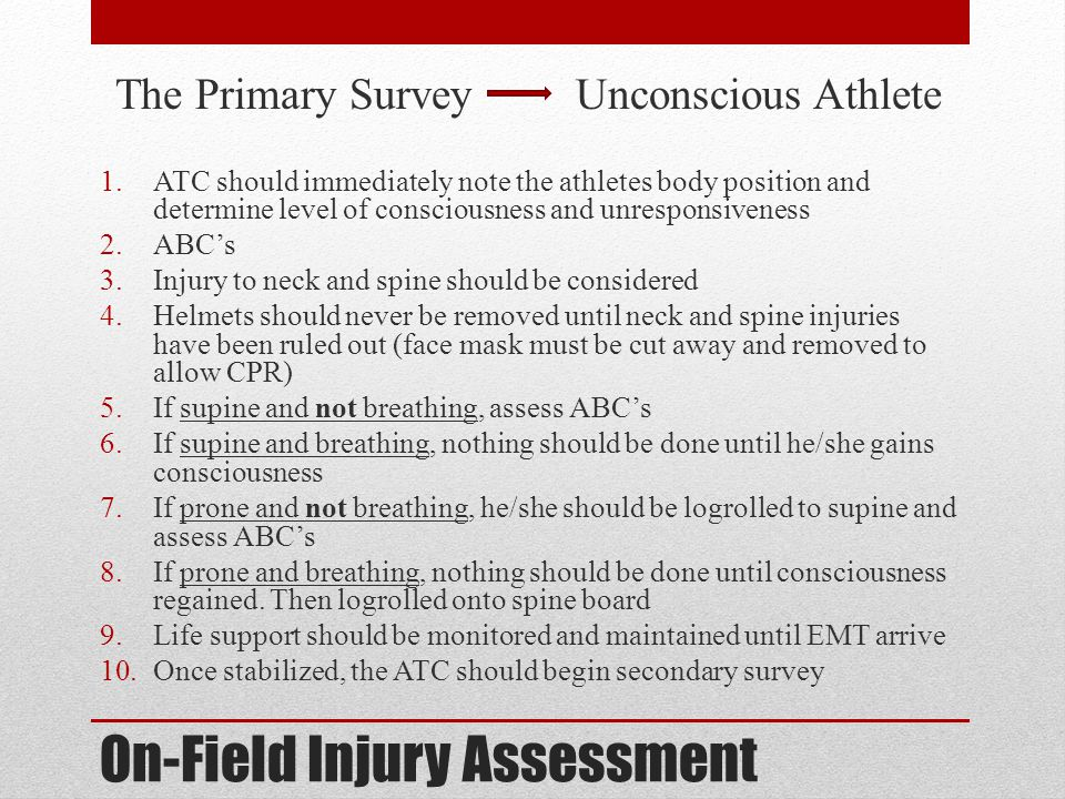 On-Field Injury Assessment