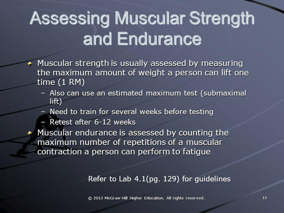 Assessing Muscular Strength and Endurance