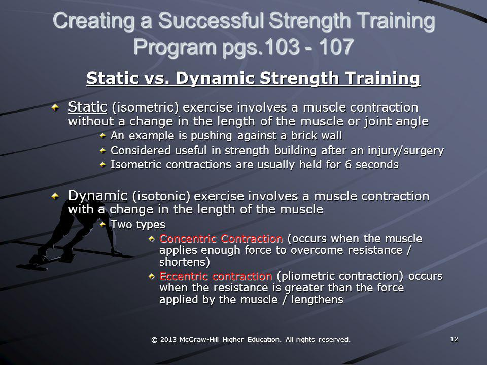Creating a Successful Strength Training Program pgs.103 - 107