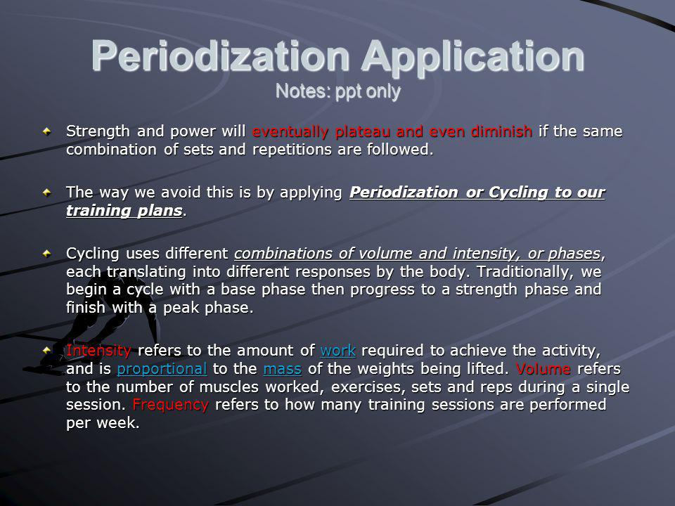 Periodization Application Notes: ppt only