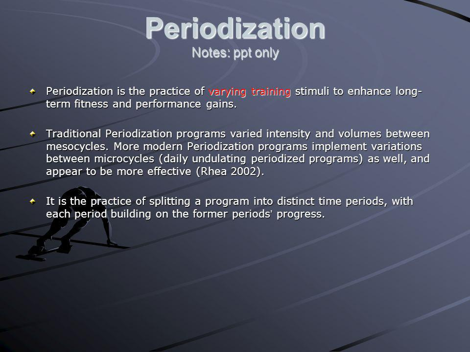 Periodization Notes: ppt only