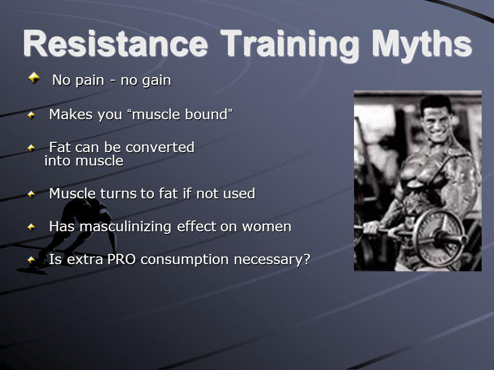 Resistance Training Myths