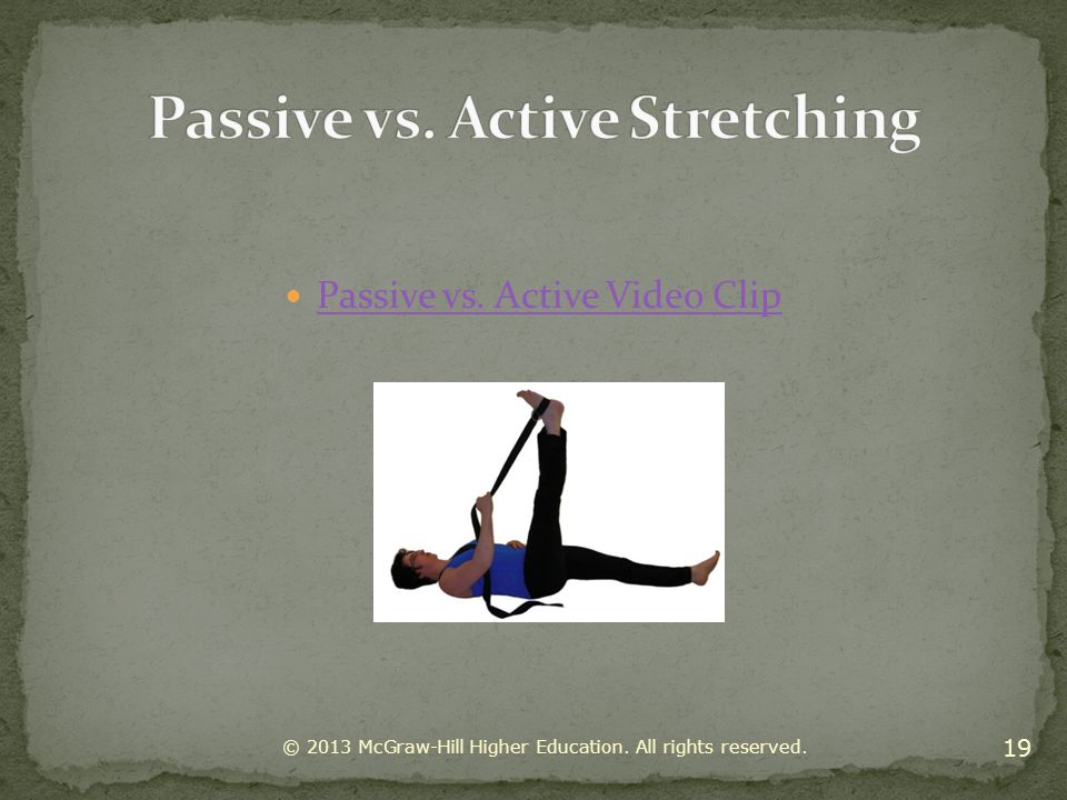 Passive vs. Active Stretching