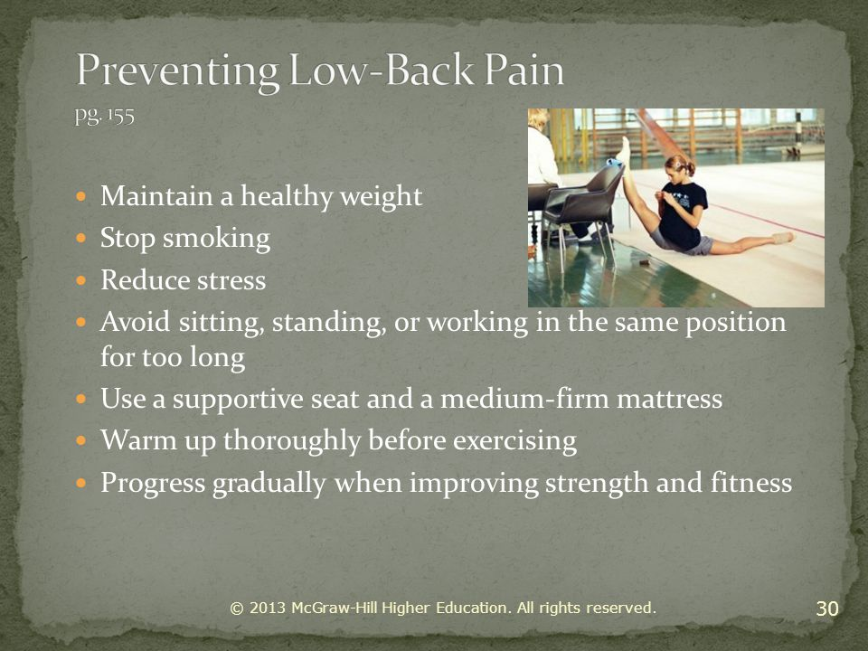 Preventing Low-Back Pain pg. 155