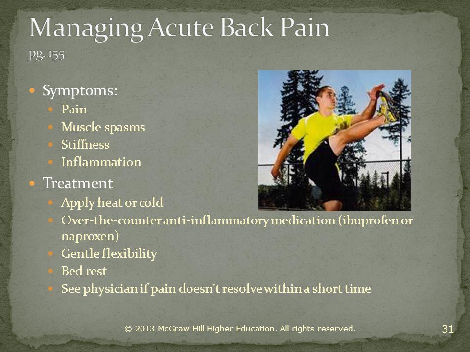 Managing Acute Back Pain pg. 155