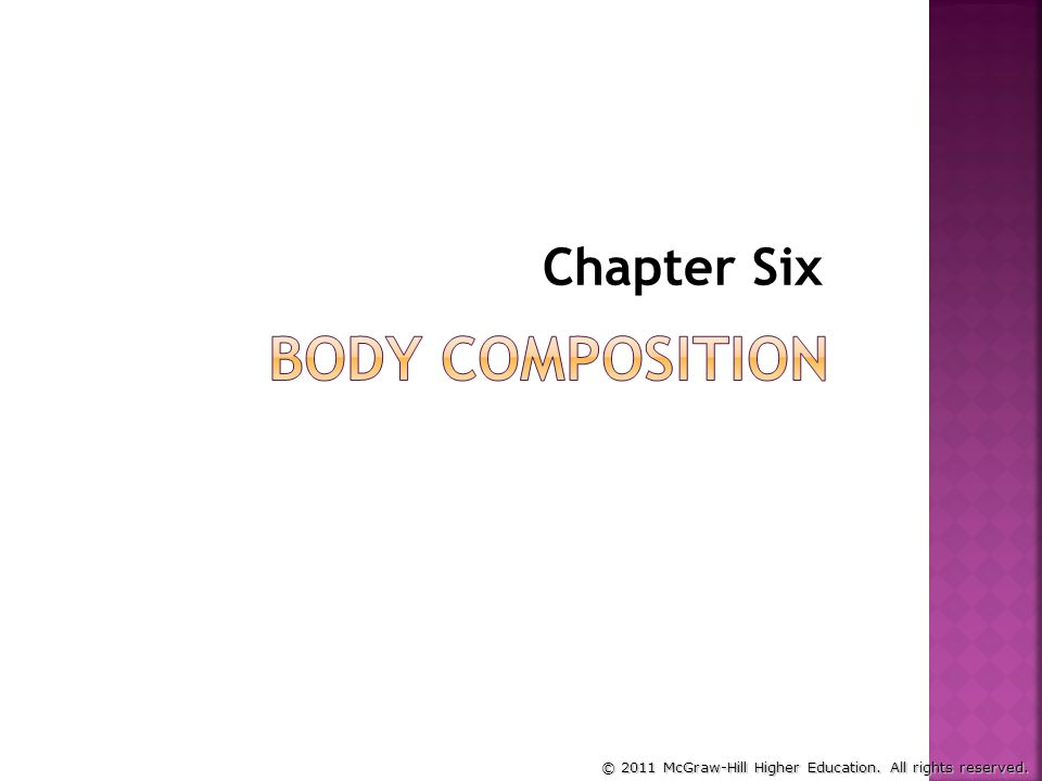 Chapter Six Body Composition
