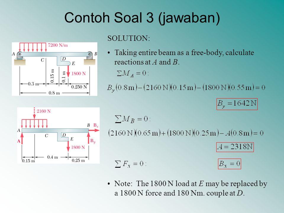 Contoh Soal 3 (jawaban) SOLUTION: