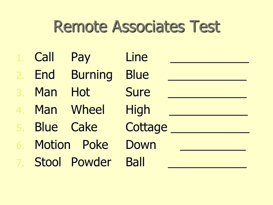 Remote Associates Test