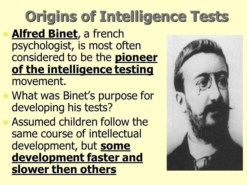 Origins of Intelligence Tests