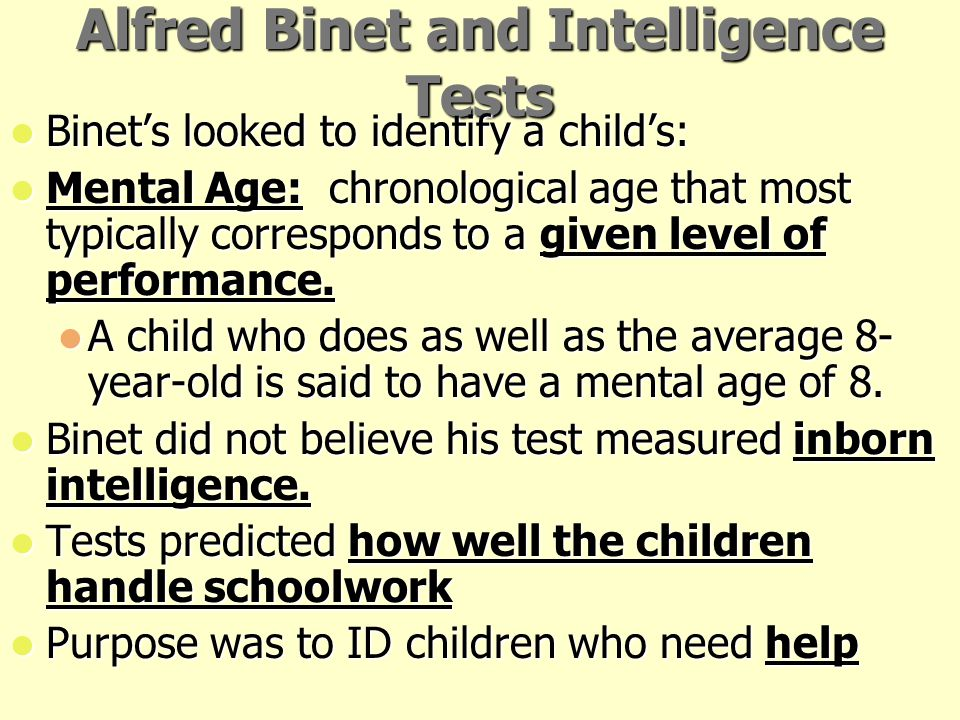 Alfred Binet and Intelligence Tests