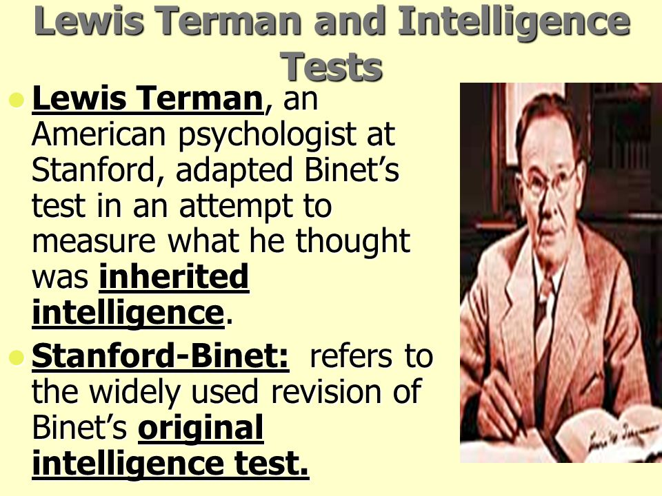 Lewis Terman and Intelligence Tests