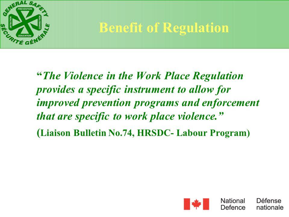 Benefit of Regulation