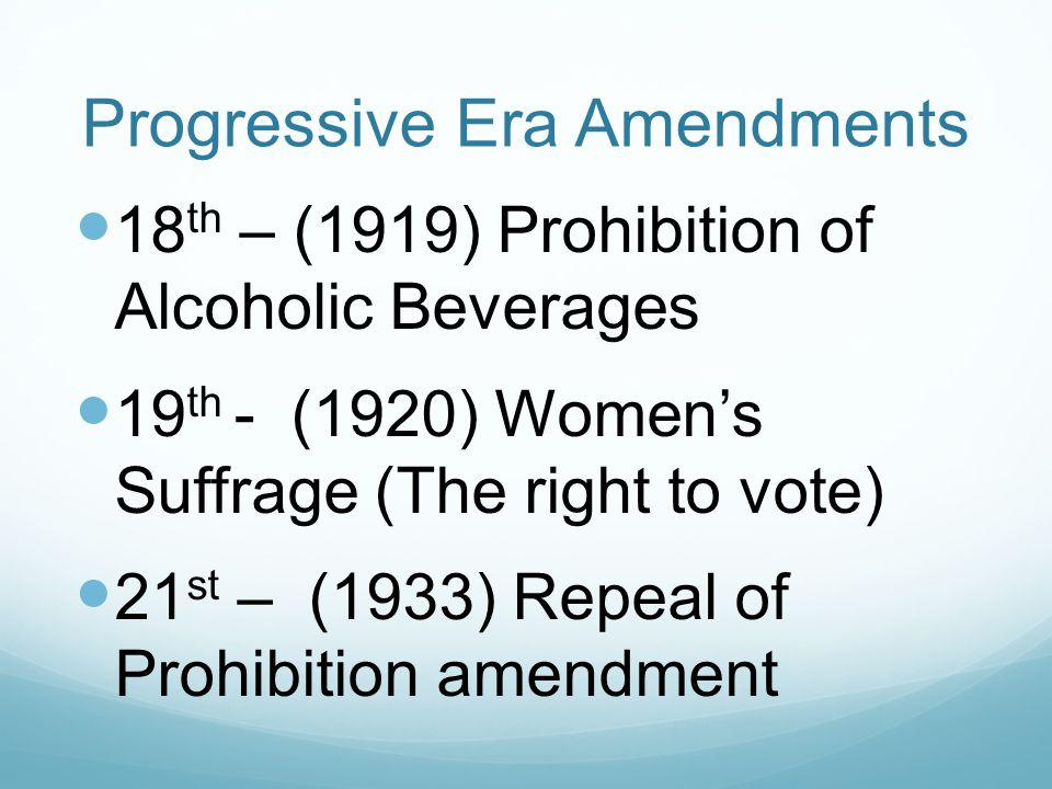 Progressive Era Amendments