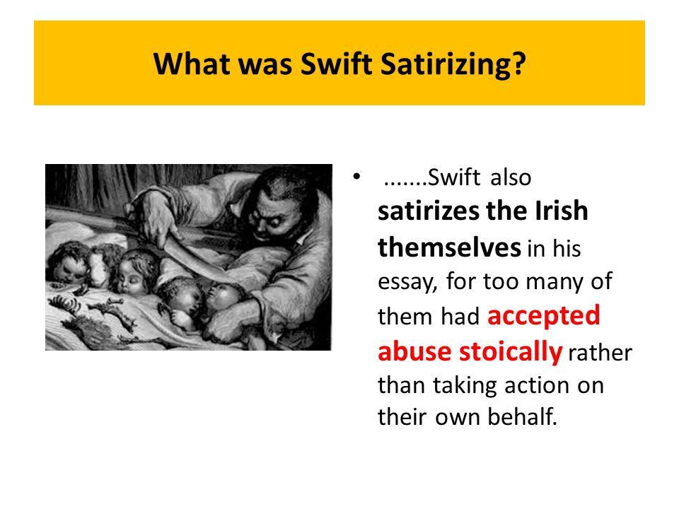 What was Swift Satirizing