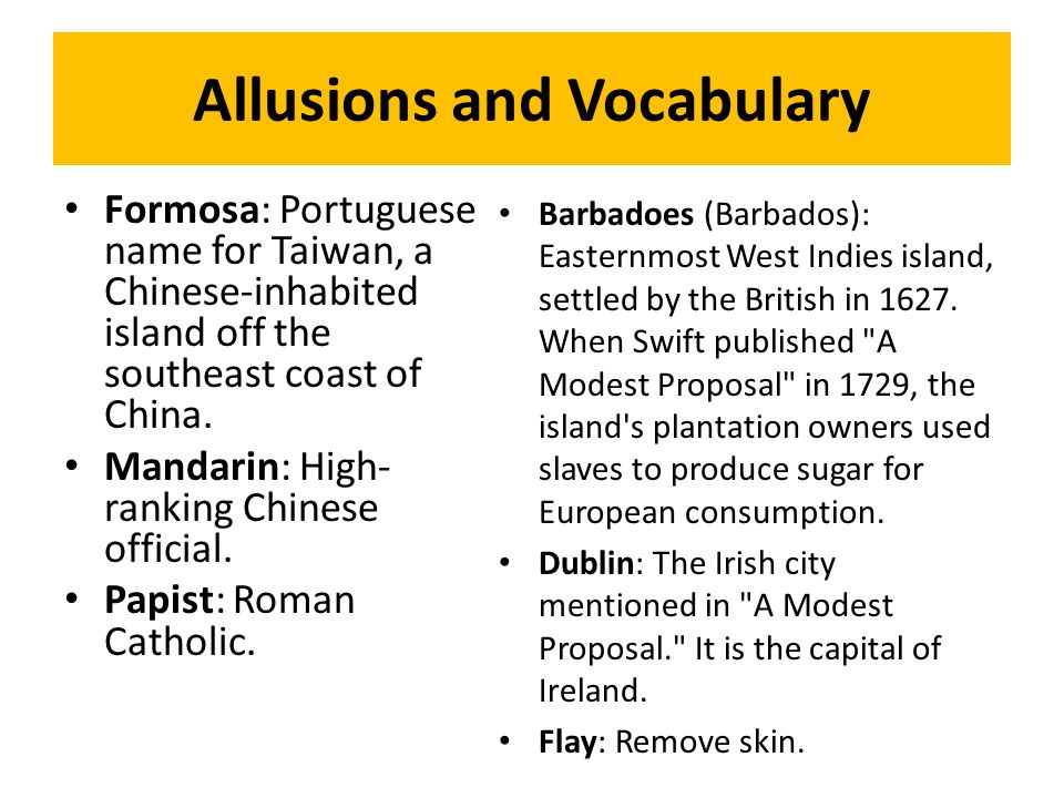 Allusions and Vocabulary