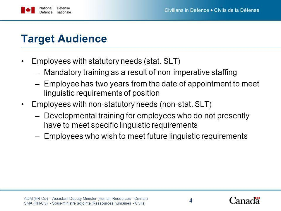 Target Audience Employees with statutory needs (stat. SLT)