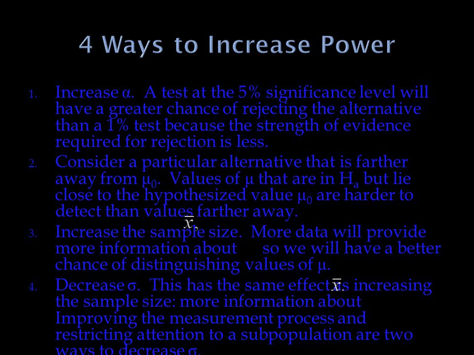 4 Ways to Increase Power