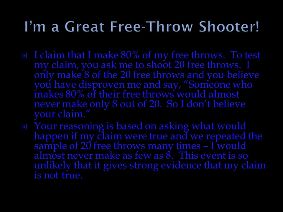 I'm a Great Free-Throw Shooter!